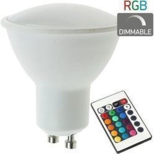 Λάμπα led GU10 RGB με Τηλεχειριστήριο 5378